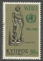 Cyprus. 1968 20th Anniv Of WHO. 50m MNH SG 323 - Cyprus (Republic)