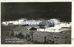 3191 ARGENTINA USHUAIA TIERRA DEL FUEGO VISTA NOCTURNA YEAR 1942 POSTAL POSTCARD - Argentinien