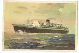 Transport  Maritime    Paquebot De Commerce  Verso Timbre  Afrique - Steamers