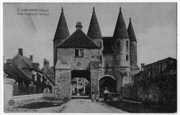 Longpont Aisne Porte Abbaye Animée 1910 état Superbe - Frankrijk