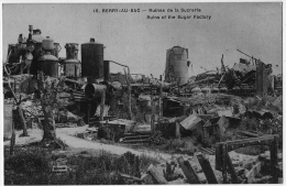 Berry Au Bac Aisne Sucrerie Raffinerie Ruine 1918 état Superbe - Frankrijk
