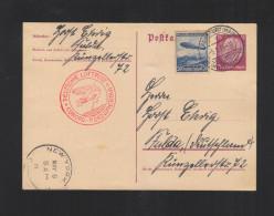 Dt. Reich Erste Nordamerikafahrt 1936 GSK Mit ZuF Frankfurt - Airmail