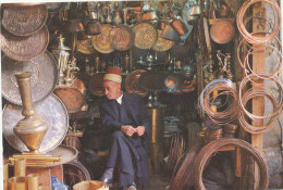 Iraq, Baghdad, Bagdad, Coppersmiths  Market , Silversmith , - Old Postcard - Iraq
