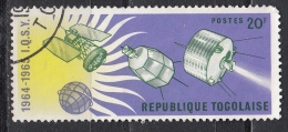 Togo, 1964 - 45fr Tiros, Telstar And Orbiting Solar Observatory - Nr.504 Usato° - Togo (1960-...)