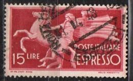 PIA - REP - 1945-52 : Francobollo Per Espressi   - (SAS 27) - 6. 1946-.. Repubblica
