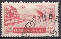 Libano, 1955 - 15p Skiing Among The Cedars - Nr.C201 Usato° - Libano