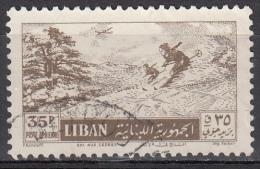 Libano, 1955 - 35p Skiing Among The Cedars - Nr.C204 Usato° - Libano