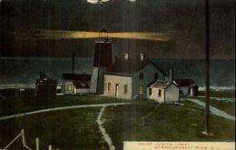 Narragansett Bay RI Point Judith Lighthouse c1910 Postcard