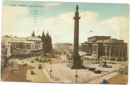 I2277 Liverpool - Lime Street - Auto Cars Voitures - Bus Autobus / Viaggiata 1958 - Liverpool