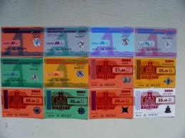 lot of 12 transport tickets of Vilnius city 2004 year