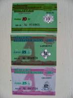 lot of 3 transport tickets of Vilnius city 2003 year: october november december