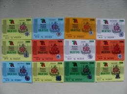 lot of 12 transport tickets of Vilnius city 2006 year