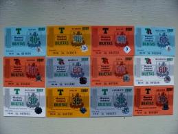 lot of 12 transport tickets of Vilnius city 2007 year