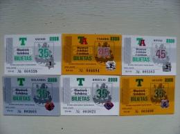 lot of 6 transport tickets of Vilnius city 2008 year: jan feb mar apr mai jun
