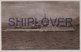 Torpilleur ALCYON (Marine Nationale) - Carte Photo Très Ancienne éd. Bouvet Sourd - Photo/bateau/schiff - Guerre