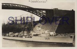 Escorteur D'escadre CASABIANCA (Marine Nationale) Le 20 Juin 1956 à Kiel - Carte Photo Rare - Photo/bateau/schiff - Warships