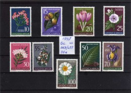 1957 - Yugoslavia - Sc. 469/477 - Flores - MNH - YU- 122 - Ongebruikt