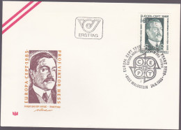 AUTRICHE : FDC :VIctor Franz Hess Physicien Prix Nobel 1936 - FDC