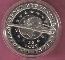 GIBRALTAR 2,8 ECU 1993 EUROPEAN SPACE PROGRAMME - Gibraltar