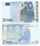 20 EURO D Estonia R031 EURONOTE  BILLET BANCONOTA DRAGHI FDS UNC - EURO