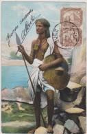 Afrique,soudan,sudan,suda Nese  Soldier,soldat,lance à La Main,1908,prés De L´égypte,vue Sur Mer Rouge,prés De L´éthiopi - Soudan