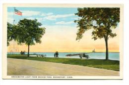 BREAKWATER LIGHT FROM SEASIDE PARK, BRIDGEPORT, CONN. - Bridgeport