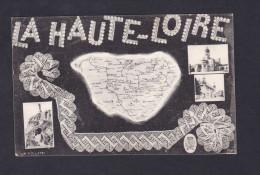 Carte Département Haute Loire Dentelle Multivues ( Cachet Depot Prisonniers De Guerre De Monistrol Correspondance ) - Unclassified