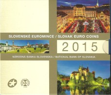 SLOVAKIJE BU FOLDER 8 MUNTEN + PENNING 2015 - Slovaquie