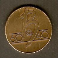 Médaille - BELGIQUE - 60B40 Baudouin 1er - 60 ème Anniversaire - 40 Ans De  Règne - Cérémonie, Commémoration Du 25-9-91 - Royaux / De Noblesse