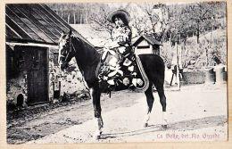 Us039 Peu Commun TEXAS TEX Truppe La BELLA Del RIO GRANDE Cow-Girl Sur Son Cheval 1910s - ZIENIER 5664 - El Paso