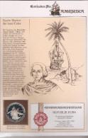 CUBA 10 PESOS 1990 SILVER PROOF COLUMBUS - DISCOVERY AMERICA - Cuba