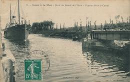 BATEAUX - CAEN à La Mer - Bord Du Canal De L'Orne - Vapeur Dans Le Canal - Caen