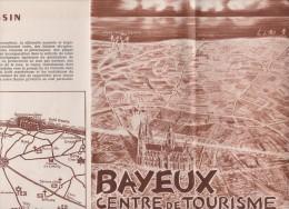 Vieux  Papier : Plan Brochure   BAYEUX  Complet - Europe