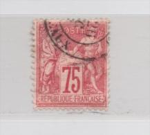 FRANCE N° 71 (YT) 75c. SAGE TYPE I (N Sous B) PHOTOS RECTO ET VERSO - 1876-1878 Sage (Type I)