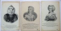 3 Cpa Marie Antoinette/élisabeth D,angleterre/comtesse Du Barry - Histoire