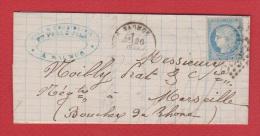 Lettre De Saumur  ----   Pour Maseille   --- 26 Fév 1872 - 1849-1876: Klassik