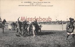 60 - COMPIEGNE -  Fête En L'honneur De  Jeanne D'Arc 1911-  Les Fous  -Dos Vierge - 2 Scans - Compiegne