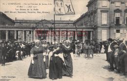 60 - COMPIEGNE -  Fête En L'honneur De  Jeanne D'Arc 1911 -Les Dames De La Halle -  Dos Vierge - 2 Scans - Compiegne