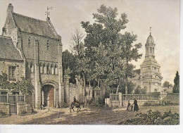 ST VICTOR LE GRAND (14-Calvados), Monastère, Lithographie De Maugendre, Ed. Assoc. Pour L'Année Des Abbayes Normandes - Autres Communes