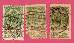 402 ~  1907 - BELGIQUE  N° 81 Lot De 3 T..   Oblitérés - Sammlungen