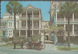 ETATS UNIS--SOUTH CAROLINA--Charleston--Soth Battery Homes-Horse & Card---Nice Card - Charleston