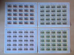 Rwanda - 1364/1367 - Banque Africaine - En Pages Complètes (25X) - 1990 - MNH - Rwanda