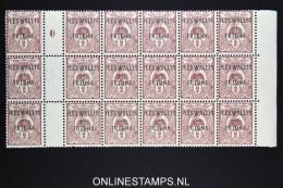 Wallis Et Futana 1920 Nr 2 Millésieme En Block De 18, Bord De Feuille MNH/** - Neufs