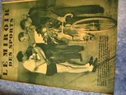 MIROIR DES SPORTS N�  981   14 DEC 1937   CYCLISME  ARCHAMBAUD RECORD MONDE DE L HEURE
