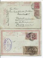Entier CPRP 60-65 C.Baal Bibna En 1922&Sèvres En 1925 + Gde Vignette Expo Inter.Paris état Moyen PR1723 - Stamped Stationery