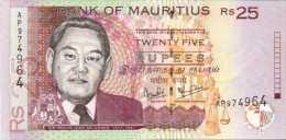 MAURICE - MAURITIUS  25 Rupees  1999 - Pick 49 A - Préfixe  AP - A UNC - Mauritius