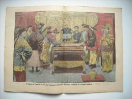 LE PELERIN 1834 de 1912.CHINE; ABDICATION DYNASTIE MANDCHOUE DEVANT EMPEREUR 5 ANS. CARICATURE FRANC-MACON. PLOUGASTEL