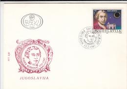 RUDER BOSKOVIC, ASTRONOMER, COVER FDC, 1987, YOUGOSLAVIA - Astrology