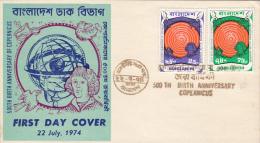 NIKOLAUS COPERNICUS, COVER FDC, 1974,BANGLADESH - Astrology