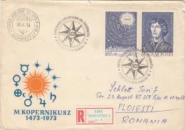 NIKOLAUS COPERNICUS, ASTRONOMER, REGISTERED COVER FDC, 1973, HUNGARY - Astrology